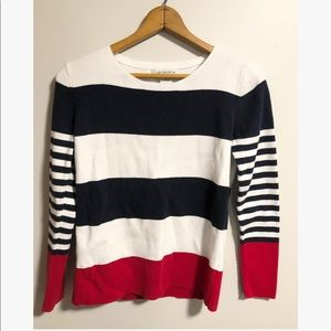 Liz Claiborne striped sweater